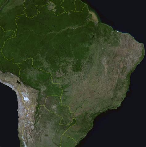 satellite map of brazil detailed satellite map of brazil brazil detailed