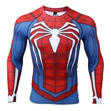 Mens Logo Sleeve Compression spider sleeve compression t shirt