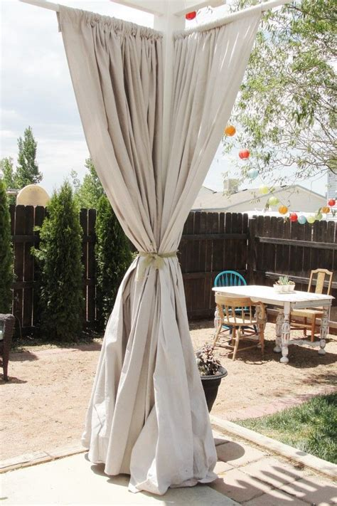 Drop Cloth Outdoor Curtains Outdoor Drop Cloth Curtains Window Treatments Outdoor Curtains Curtains And Outdoor