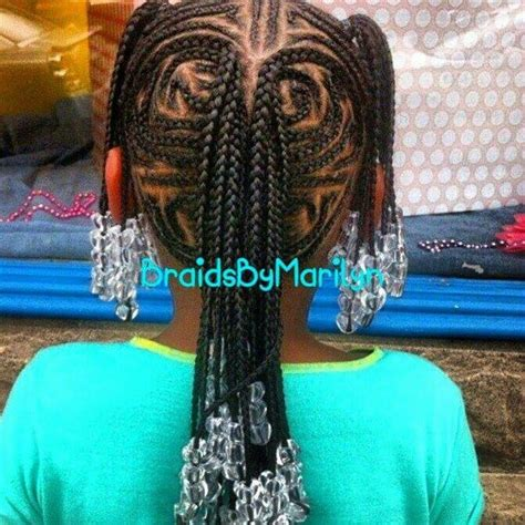 fancy corn rows fancy cornrows with braids and beads a little girl