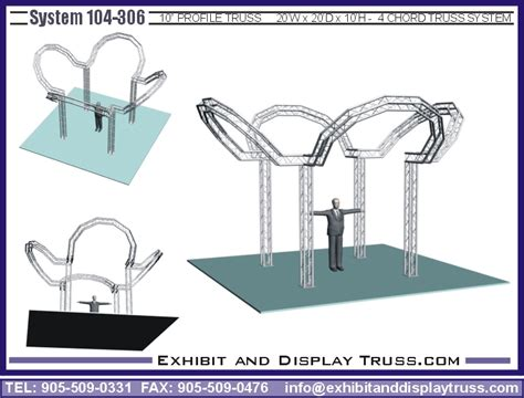 aluminium booth manufacturers trade show exhibit booth display truss portable display