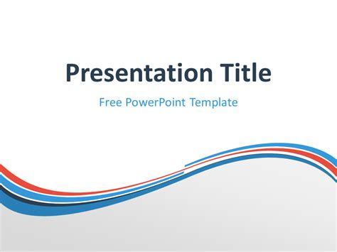 Blue And Orange Powerpoint Template free light blue powerpoint templates presentationgo