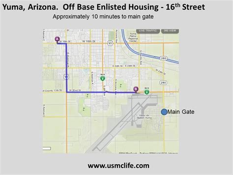 marine corps bases in the united states map 16th housing map on yuma marine corps base