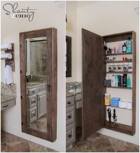 awesome diy bathroom mirror cabinet for some storage