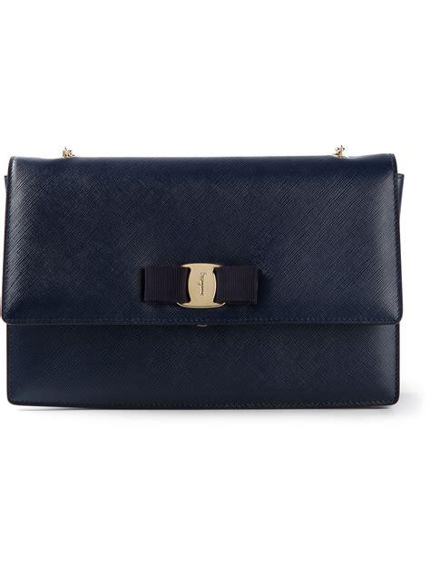 Ferragamo Ginny Medium In Indien Blue ferragamo ginny medium shoulder bag in blue lyst