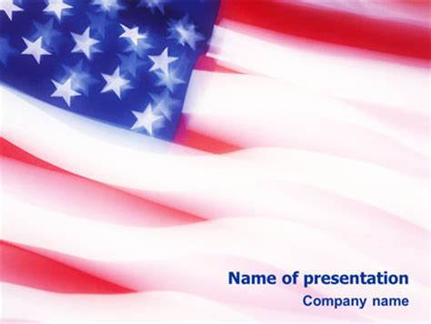 Flag Of The United States Of America Letterhead Template Layout For Microsoft Word Adobe American Powerpoint Templates