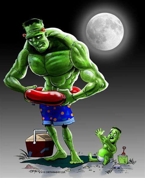 frankenstein monster  baby cartoon