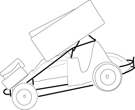 blank coloring pages cars imca modified coloring pages coloring pages