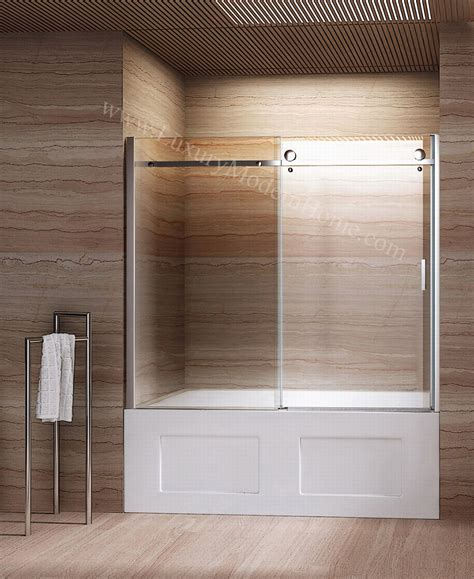 sliding glass doors for bathtub priscus frameless glass sliding door bathtub