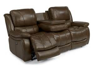flexsteel living room leather power reclining sofa 1343