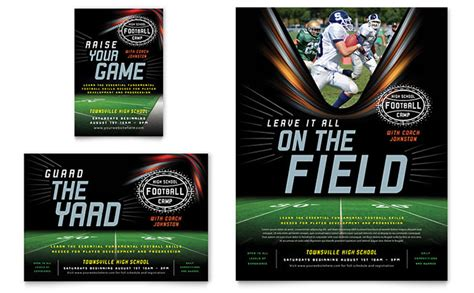 baseball card template indesign football flyer ad template design