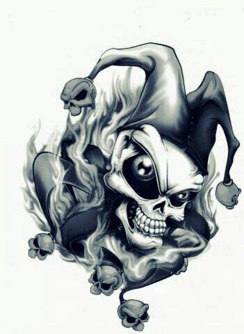 imagenes de calaveras joker skull jester ladyskull 2015 drecko pinterest