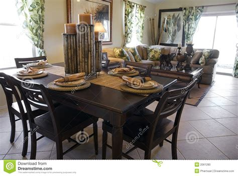model home decor model home interior design stock photo image of table