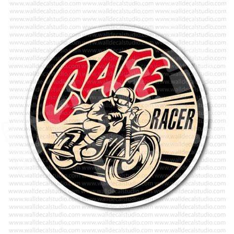 Bmw Vintage Sticker by Cafe Racer Motorcycle Rockers Vintage Sticker Motorcycle