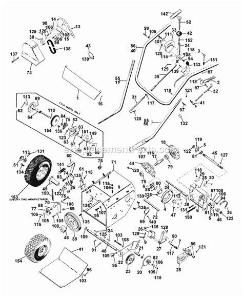 ariens parts diagrams ariens 10965 parts list and diagram 007201