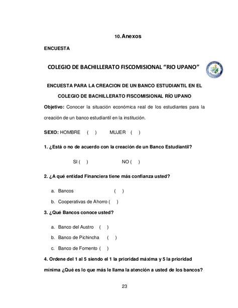 Modelo Curriculum Para Entidad Financiera Creacion De Un Banco Studiantil