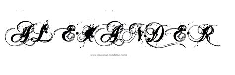 alexander tattoo name designs