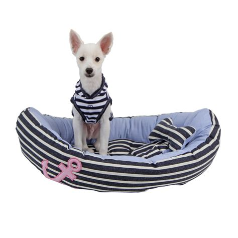 boat dog bed with anchor toy gondola dog bed by pinkaholic navy and blue at baxterboo
