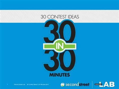 contest ideas 30 contest ideas in 30 minutes