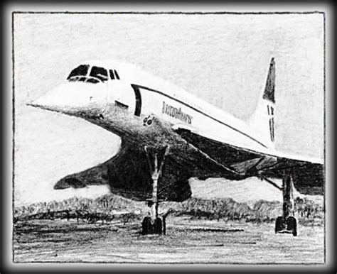 drawing of a a drawing of concorde