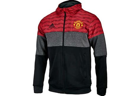Hoodies Zipper Manchester United Merah Chevrolet adidas manchester united zip united soccer apparel