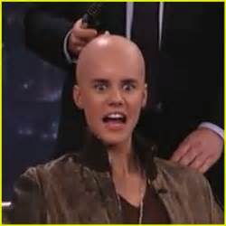 jimmy kimmel hair loss justin bieber goes bald for jimmy kimmel jimmy kimmel
