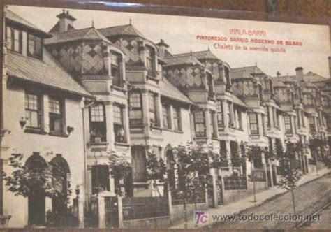 antigua postal de barakaldo vizcaya chalets comprar bilbao irala barri pintoresco barrio moderno comprar