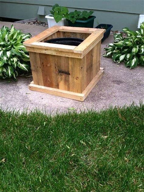 square planter boxes diy upcycled pallet planter designs 101 pallet ideas