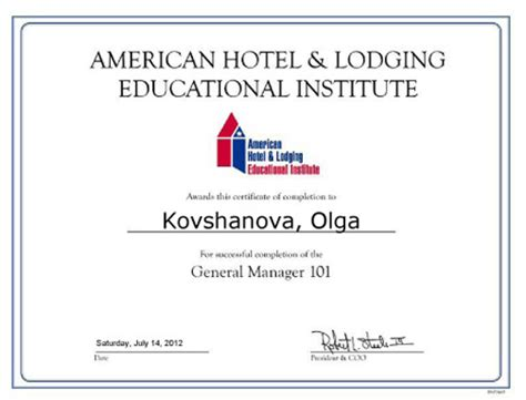 Mba Marketing After Hotel Management by Degrees And Certificates Olga Kovshanova Mba Ma