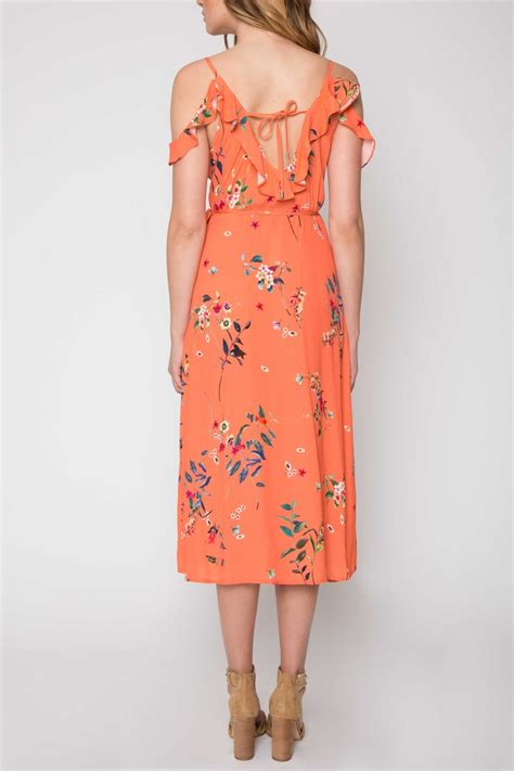 Printed Front Wrap Dress willow clay printed wrap dress from new jersey by