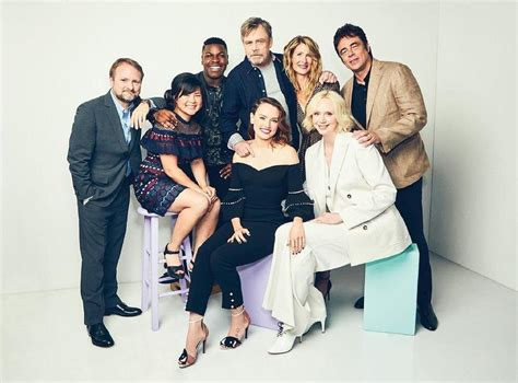 Peoples Cast by The Last Jedi Cast Photo From Magazine Starwars