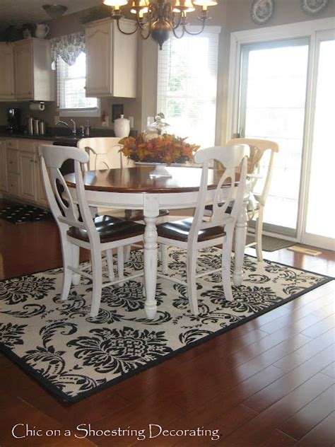 rugs for kitchen table chic on a shoestring decorating 31 days of decorating on