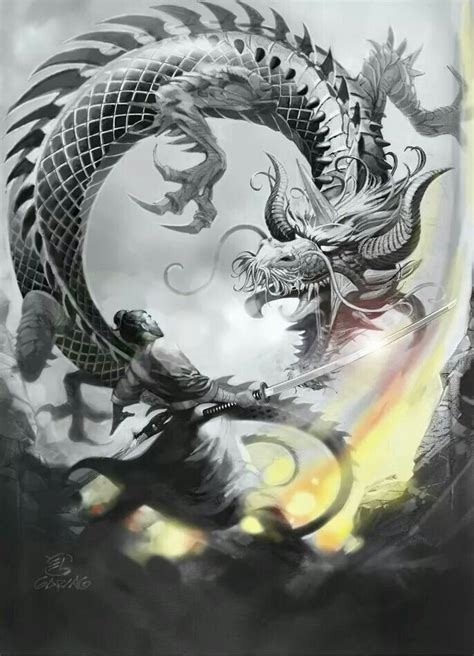 dragon warrior tattoo designs asian warrior design