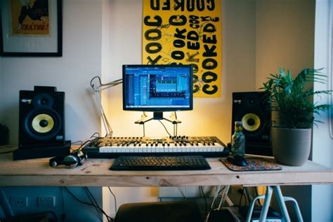 Bedroom Recording Studio Set Up In Bed Room With Melbourne Producer Dugong Jr Thump