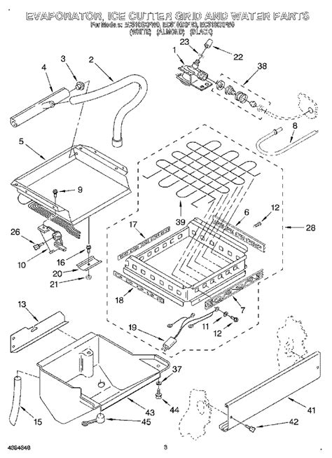 whirlpool maker parts diagram refrigerator parts whirlpool gold refrigerator parts diagram