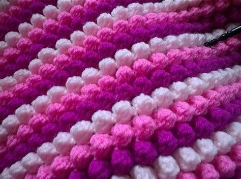 knit puff stitch crochet patterns galore puff or bobble stitch blanket