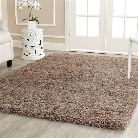 safavieh california rug safavieh california shag taupe 11 ft x 15 ft area rug sg151 2424 1115 the home depot