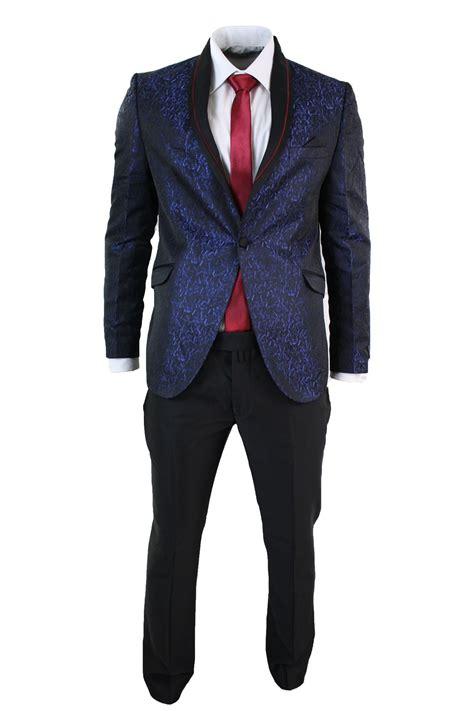 blue pattern men s suit mens shiny pattern tuxedo dinner suit complete blue purple