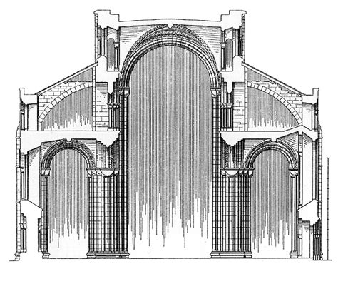 cathedral section medieval durham cathedral plans and drawings