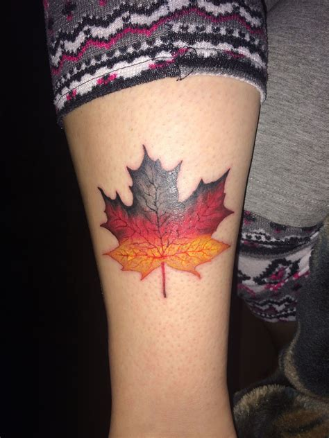 german flag tattoo my new showing my heritage german maple leaf