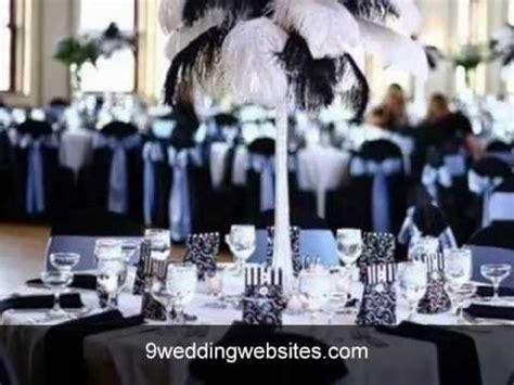 Black and white wedding decor   YouTube