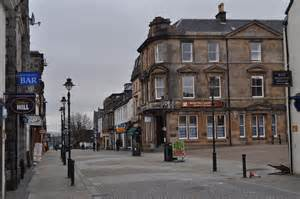 The busy high street boasts a range of shops selling a wide variety of