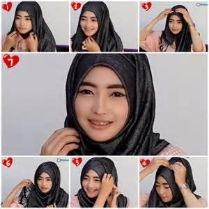 Cara memakai shawl untuk muka bulat