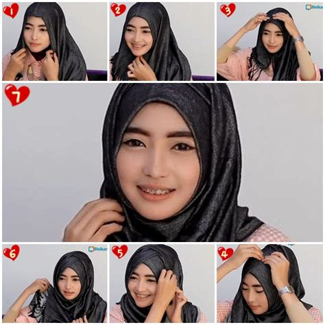 tutorial hijab pashmina graduation 15 tutorial hijab pashmina wajah bulat simple jilbab