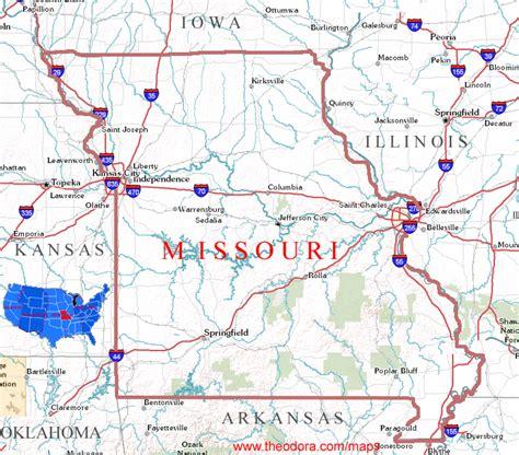 missouri map us missouri images