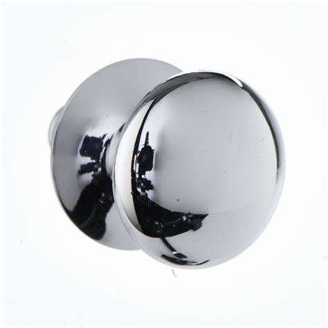 Chrome Door Knobs Wilko Door Knob Chrome Button 25mm At Wilko