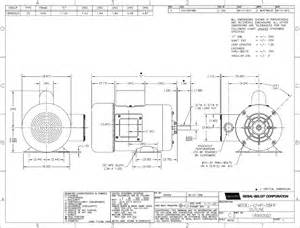 2 hp motor 115 208 230 volts a o 2 wiring diagram and circuit schematic