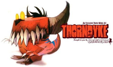 Papercraft Monsters - creaturebox thorndyke papercraft paperkraft