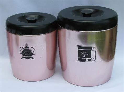 pink canisters kitchen vintage west bend copper pink aluminum kitchen canisters