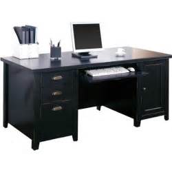Black Computer Desk Kathy Ireland Home By Martin Tribeca Loft Pedestal
